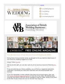 Your Devon and Cornwall Wedding magazine - April 2021 newsletter