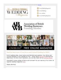 Your Devon and Cornwall Wedding magazine - August 2021 newsletter