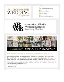 Your Devon and Cornwall Wedding magazine - September 2021 newsletter