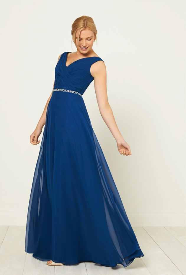 Frocks & Frills in Falmouth, Cornwall offer this blue bridesmaids dress