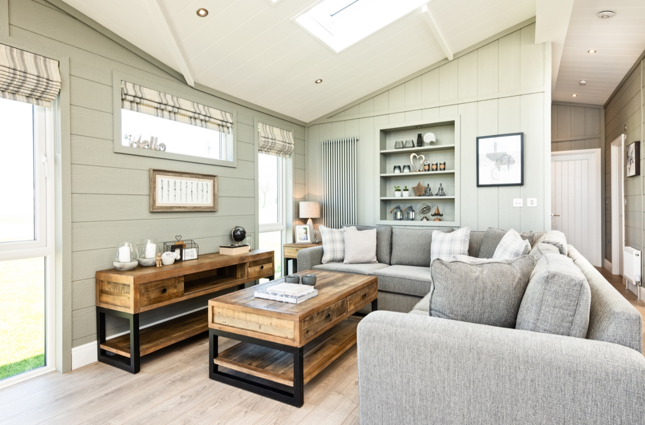 Inside a lodge at Bude Holiday Resort in Cornwall
