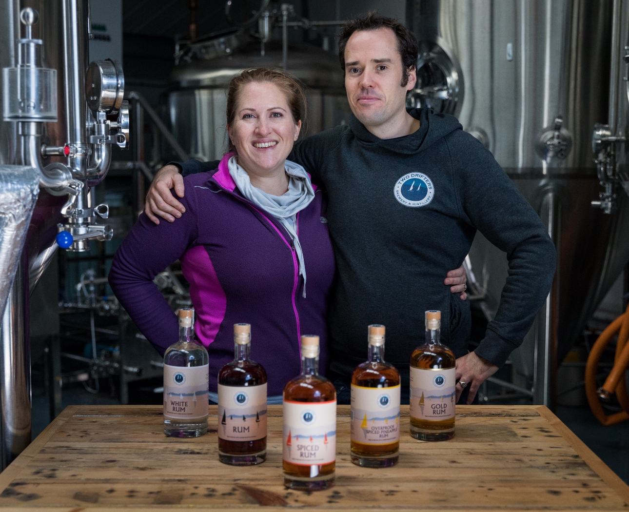 Devon-Based carbon negative rum distillery Two Drifters reach crowdfunding target