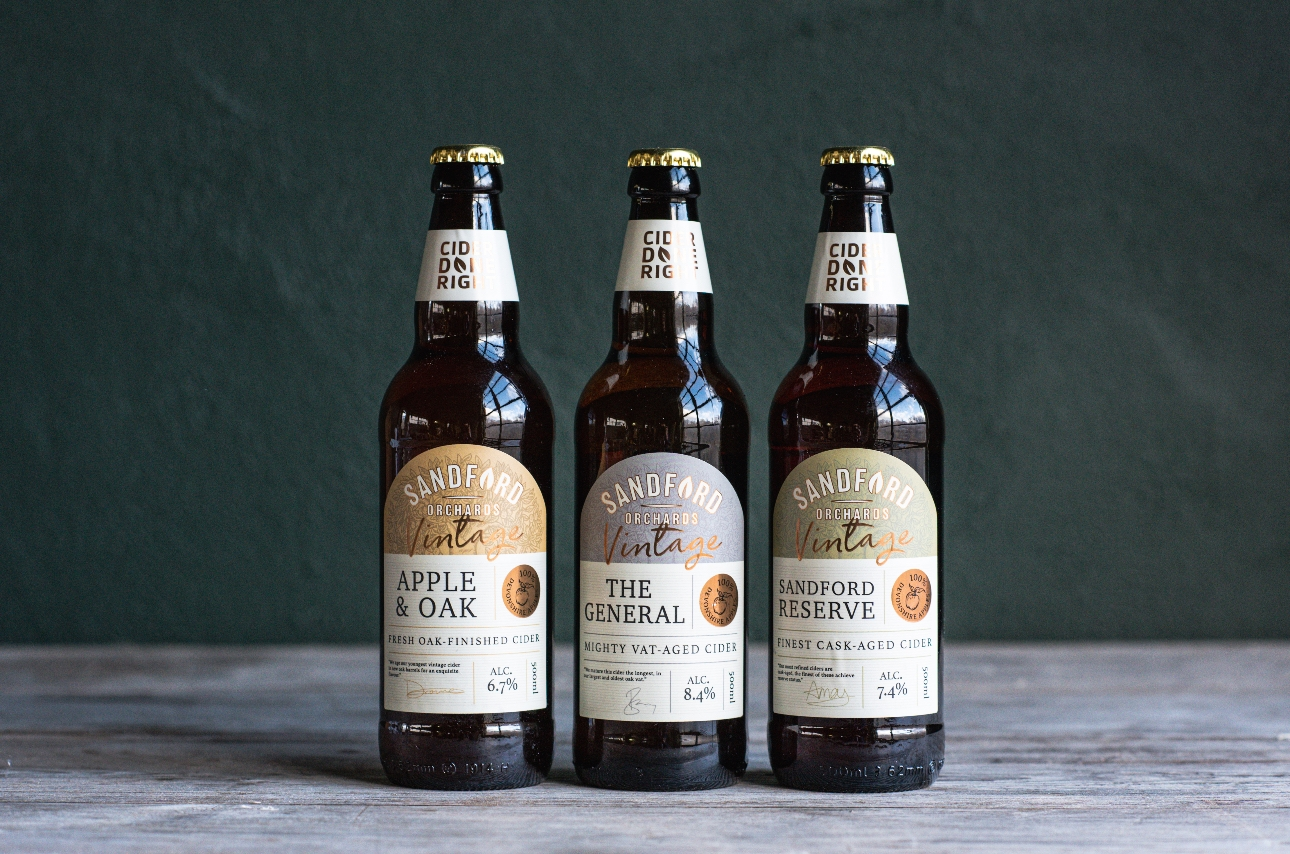 Sandford Orchards launches new collection of vintage ciders